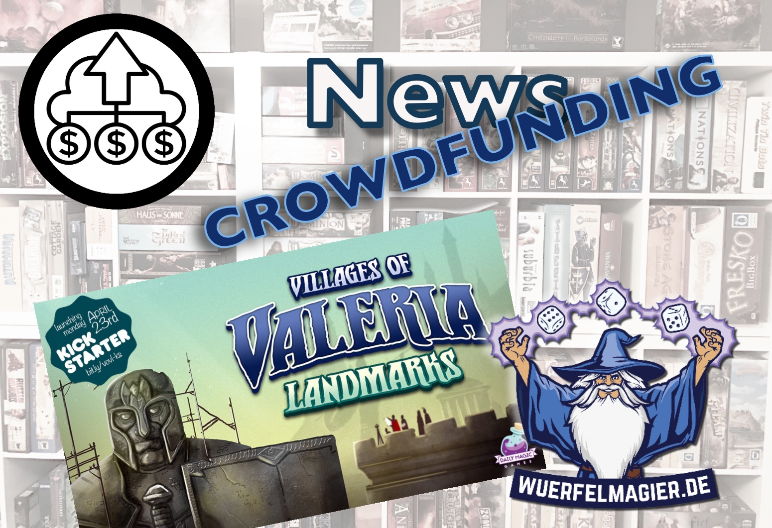 News Würfelmagier Crowdfunding Valeria Landmarks