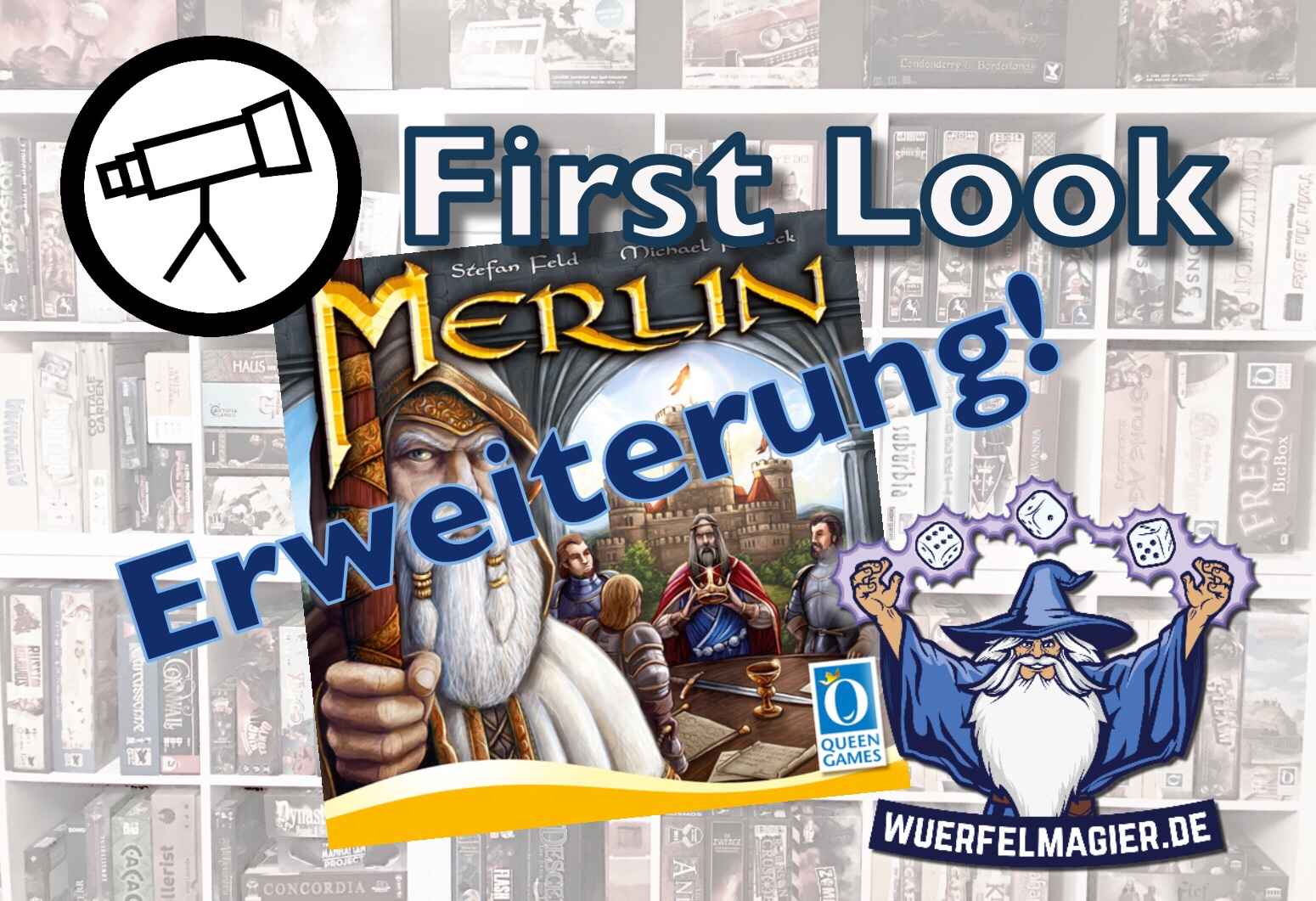 First Look Merlin Erweiterung Queen Games