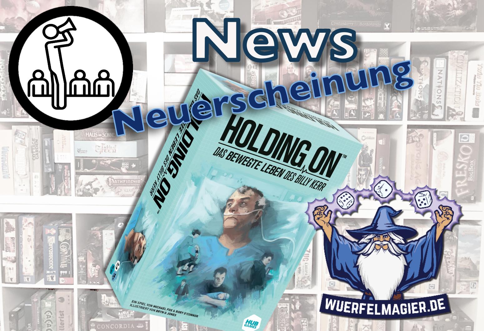 Holding On Neuerscheinung Asmodee Wuerfelmagier Würfelmagier