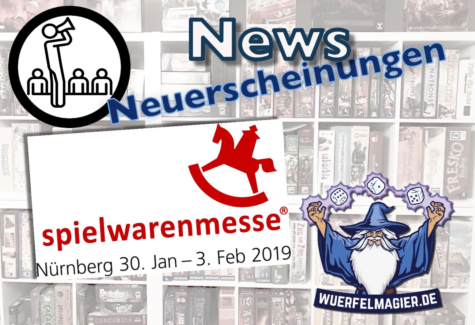 Spielwarenmesse 2019 Nürnberg Brettspiel boardgames nuremberg Neuerscheinungen Würfelmagier Wuerfelmagier
