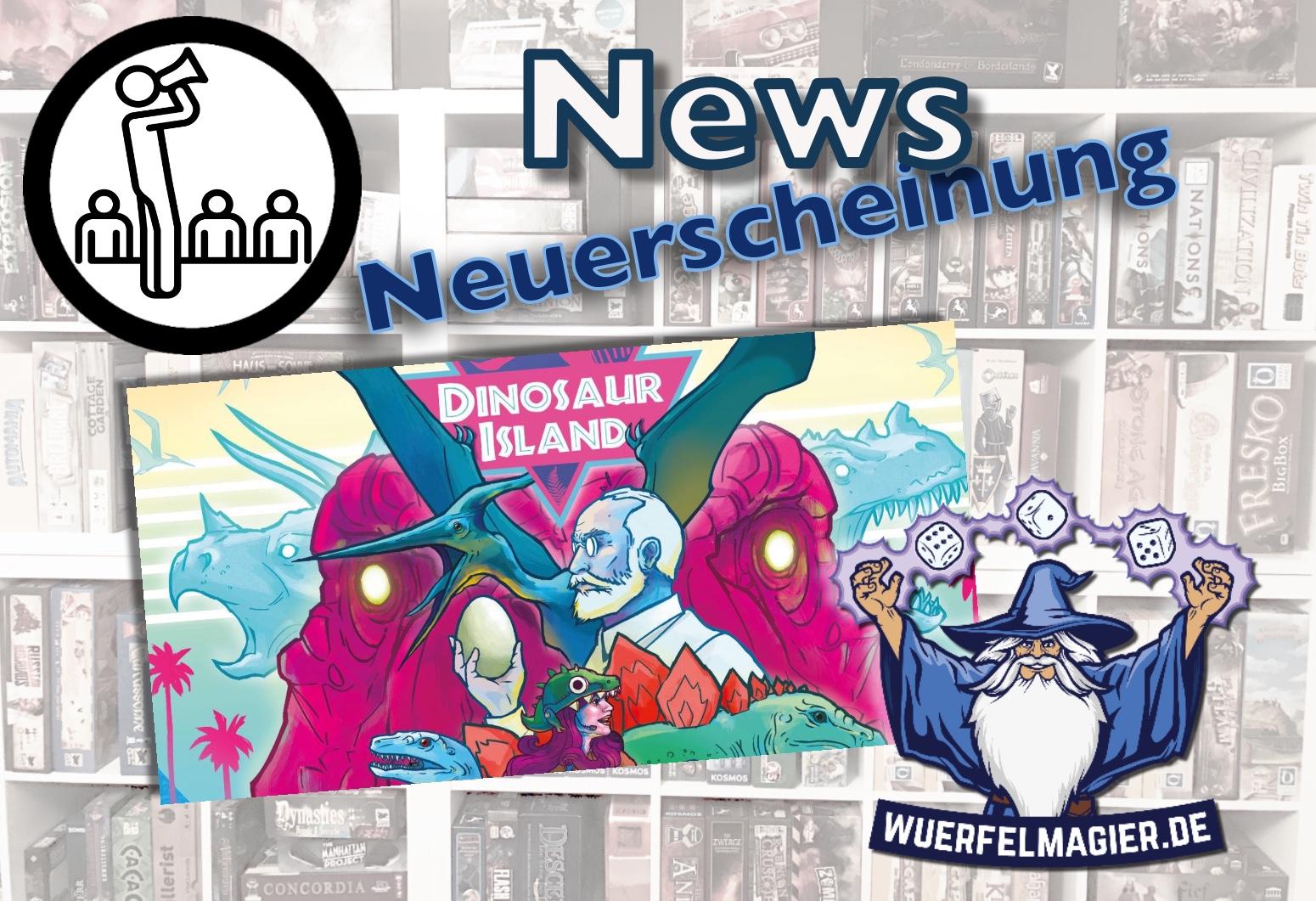 Neuerscheinung News Feuerland Dinosaur Island Wuerfelmagier Würfelmagier