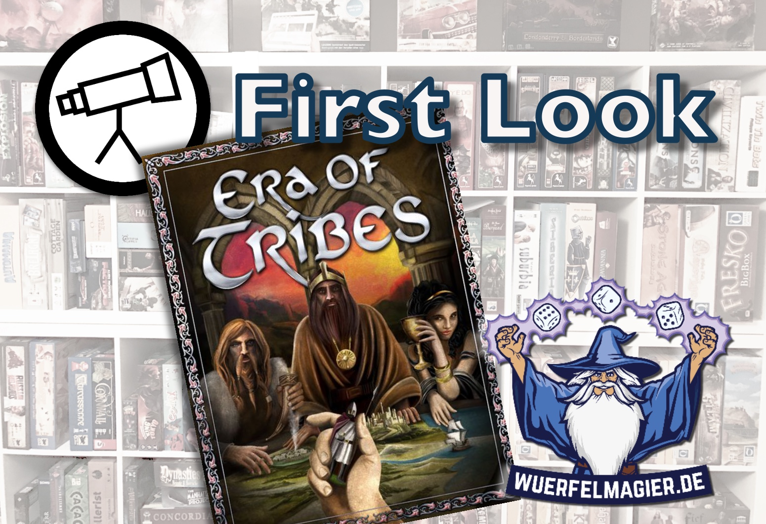First Look Era of Tribes Kickstarter Crowdfunding Wuerfelmagier Würfelmagier