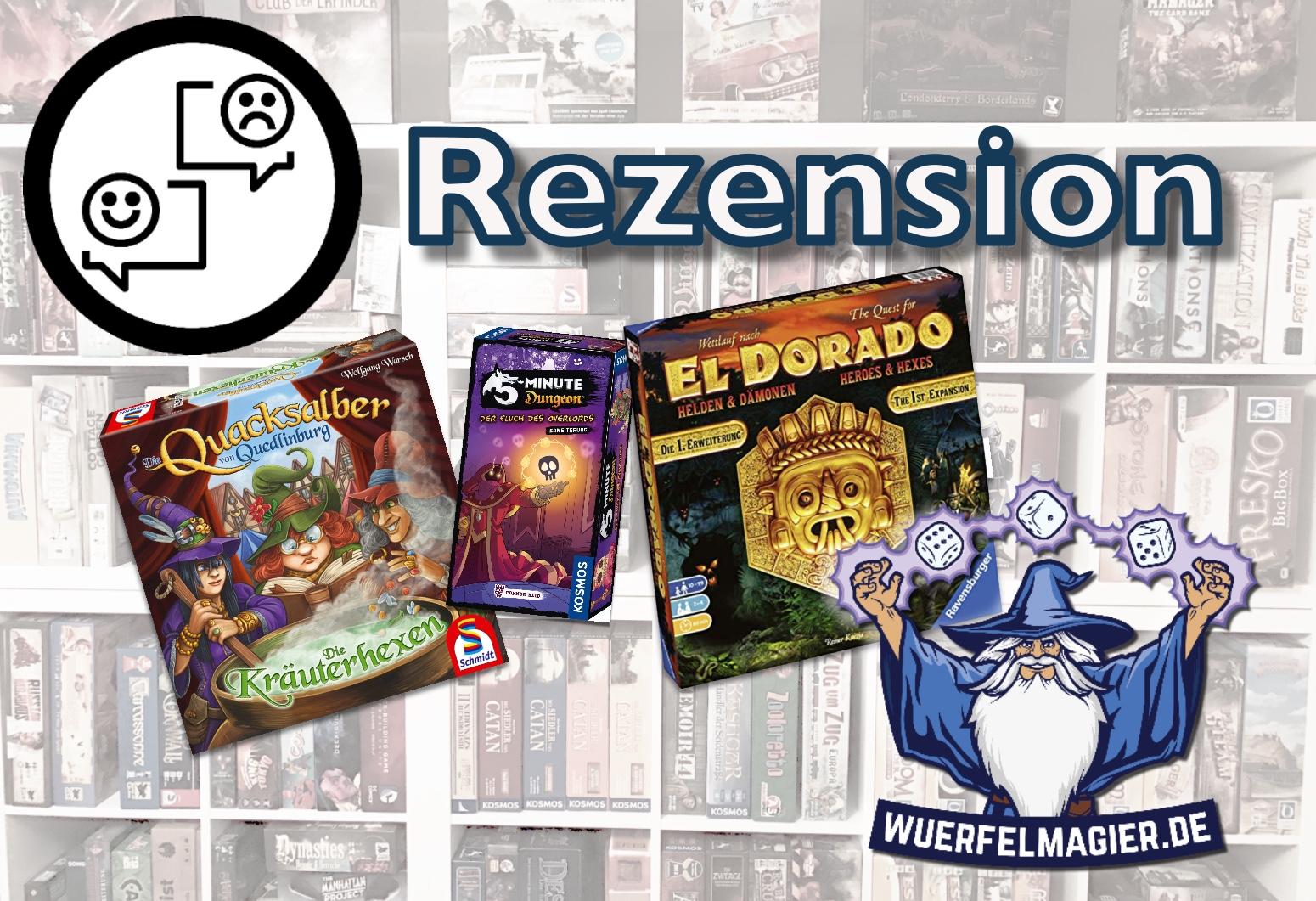 Rezension Erweiterung Quacksalber Wettlauf nach El Dorado 5-Minuten-Dungeon