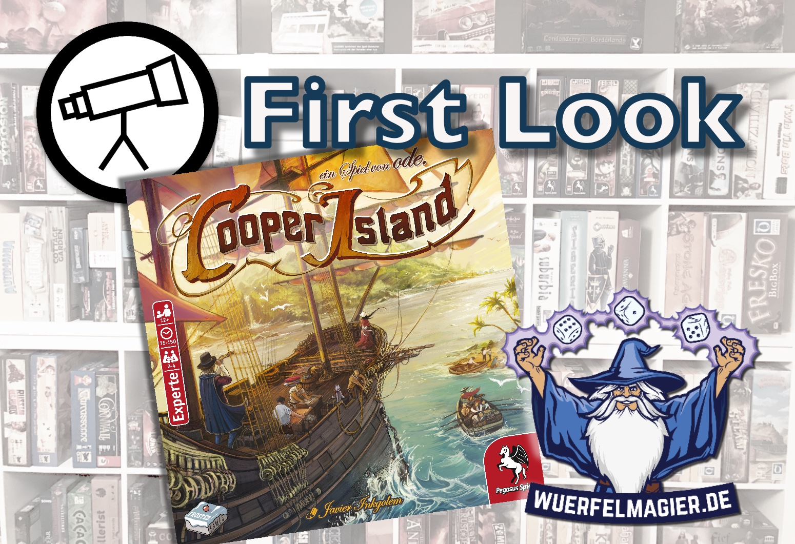 First Look Cooper Island Frosted Games Pegasus Spiele Andreas ode Odendahl